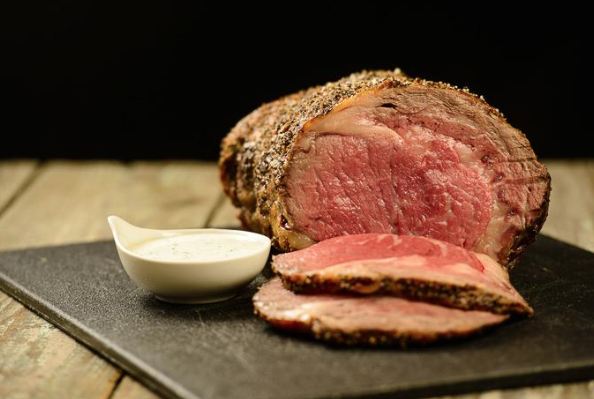 Peppered Beef with Wasabi Cream Sauce