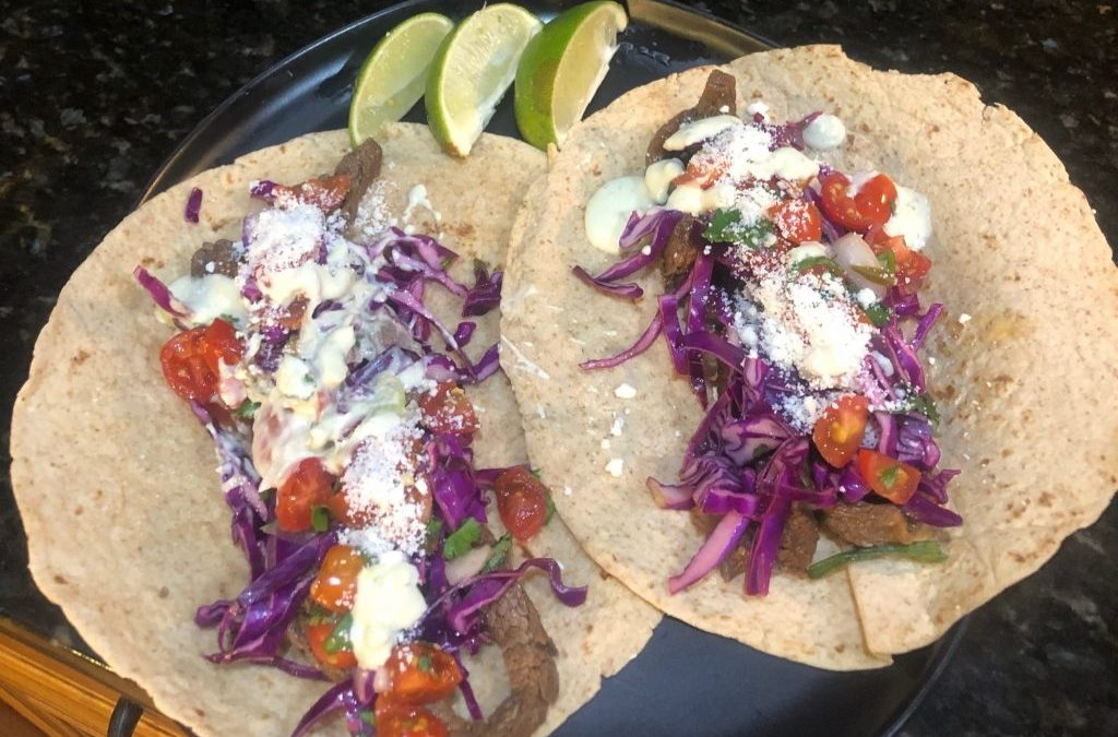 Chile-Spiced Wagyu Flank Steak Tacos